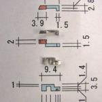 ロック機構部品-1 (サイズが小さいので、寸法はかなりの精度を必要とする)