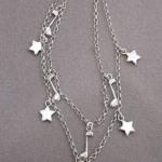 星と音符をチャームにしたブレスレット